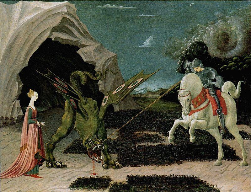 La Rosa Mística y Sant Jordi/San Jorge