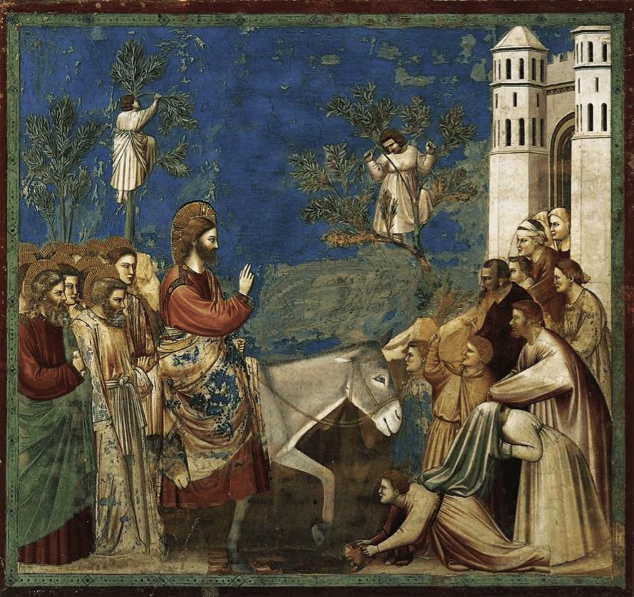 Jesús es recibido con olivo en Semana Santa